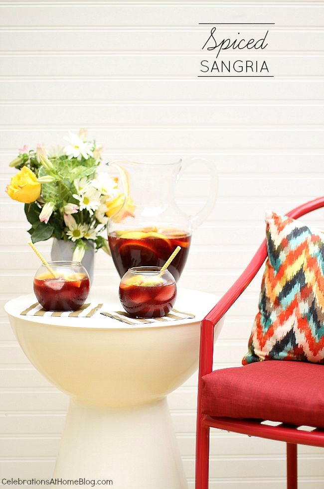 This spiced sangria is the perfect pitcher drink for entertaining. Get the recipe here.