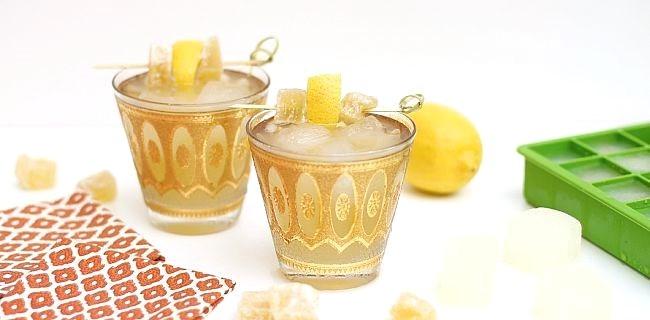 Bourbon Ginger Lemonade Cocktail