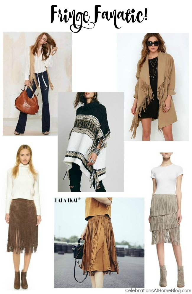 Fashion Friday - Fringe fashion details are on trend this fall.