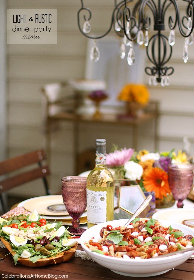 A Light Rustic Dinner Party Menu For Casual Entertaining At Home