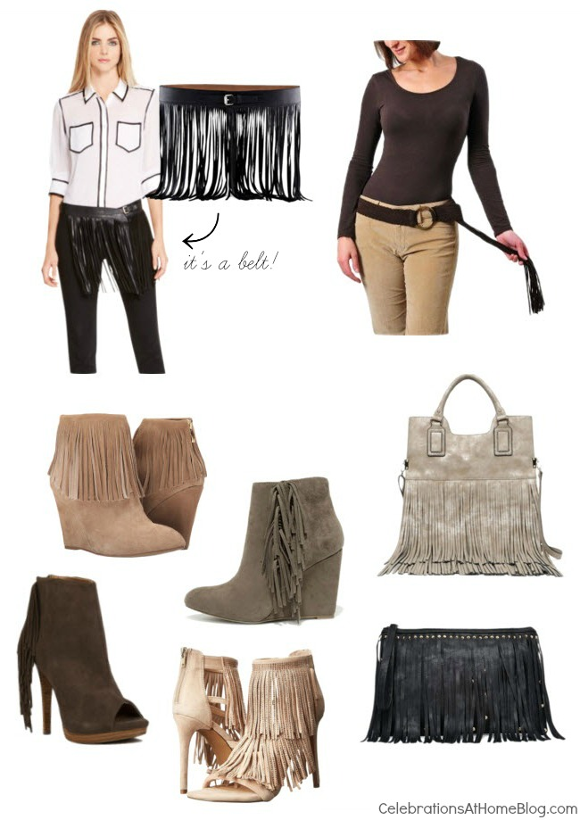 Fashion Friday - Fringe fashion accessories add drama to your outfit this fall.