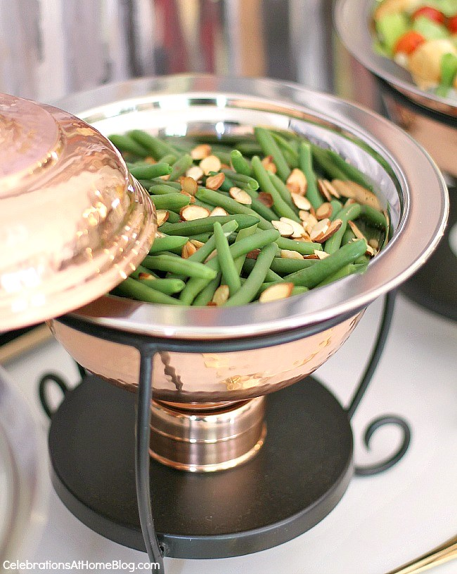 Check out my dining room update and holiday entertaining tips here. - green beans almondine