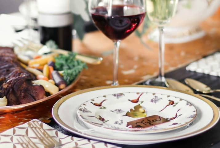 Traditional Table Setting for Holiday Entertaining