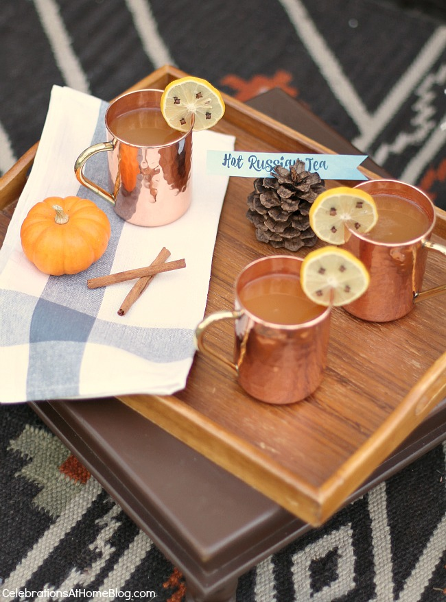 Friendsgiving Thanksgiving Celebration - party ideas, inspiration, and recipes. Hot cider