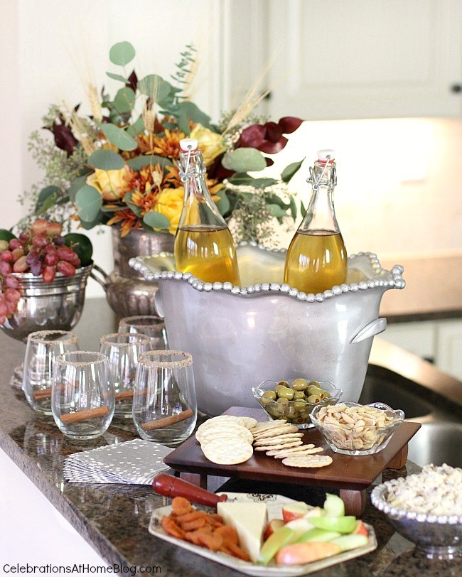 Follow these 6 steps to prep your home for holiday entertaining, plus an entertaining tip for each one, here. - counter top buffet