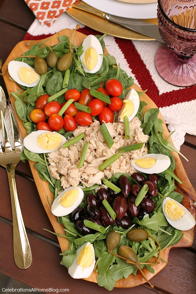 Dinner Party For 10 Menu Ideas Part - 22: A Light Rustic Dinner Party Menu For Casual Entertaining At Home. - Nicoise  Salad