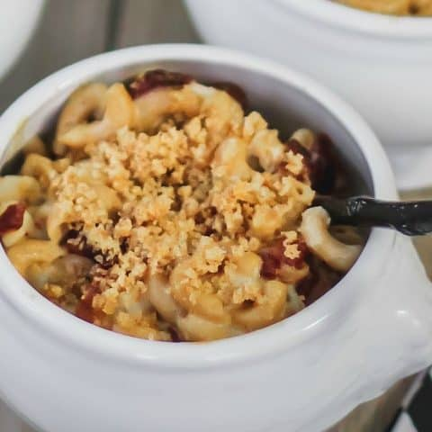 lobster macaroni and cheese recipe card
