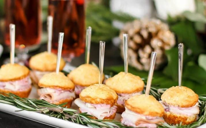 Mini Muffin Appetizers Party Sandwiches