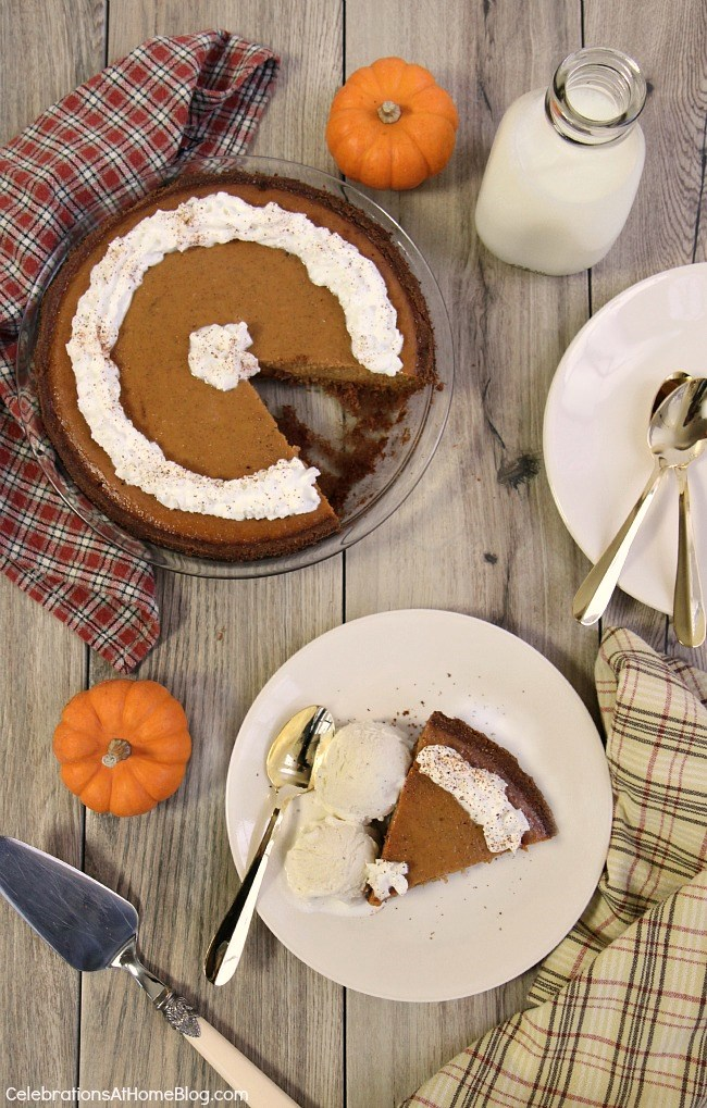 I've been making this easy pumpkin pie for years, at Thanksgiving and Christmas. It goes together so quickly and tastes so good!