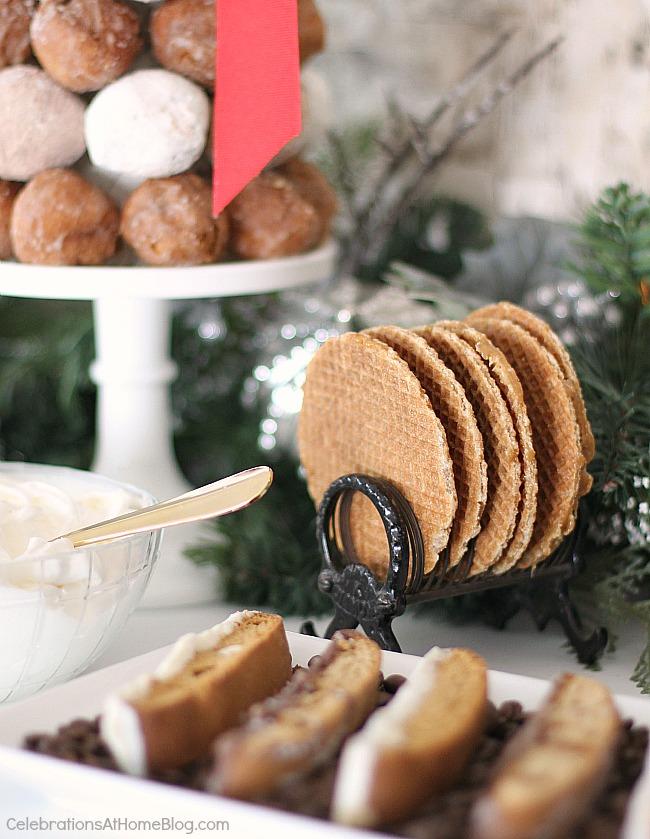Holiday hot bar and sweets