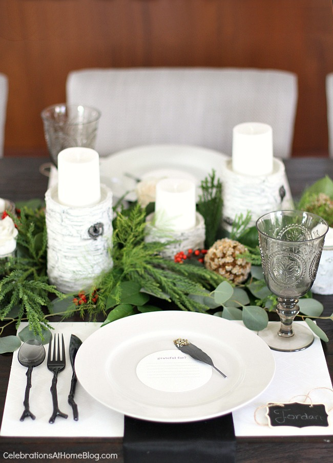 christmas dinner party and menu with recipes