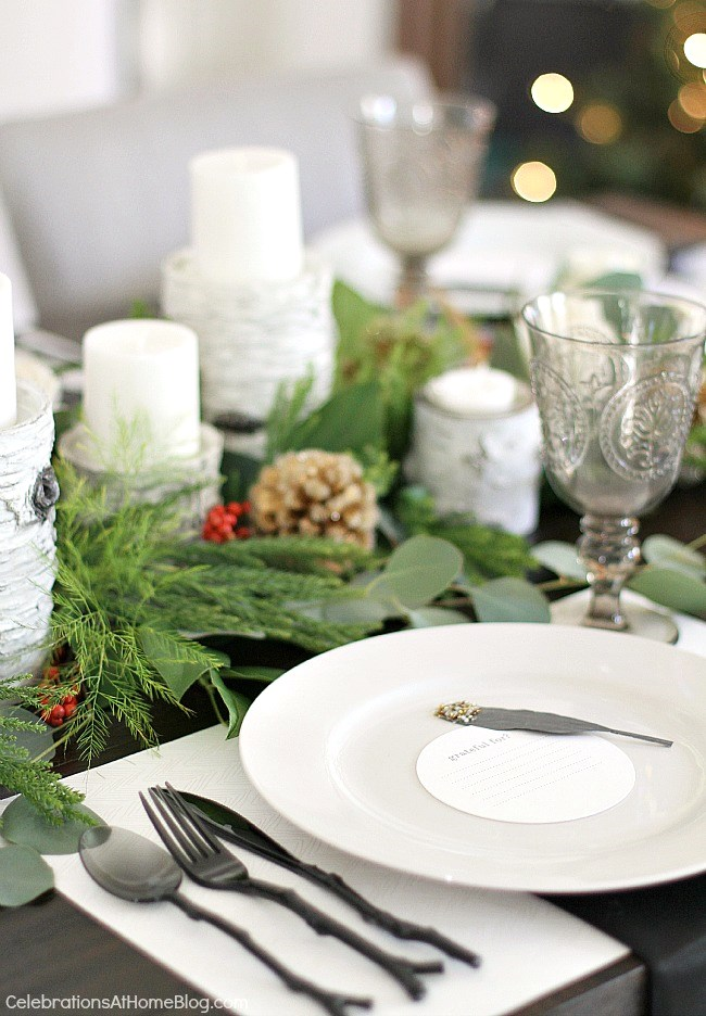 Christmas dinner party and menu with recipes.