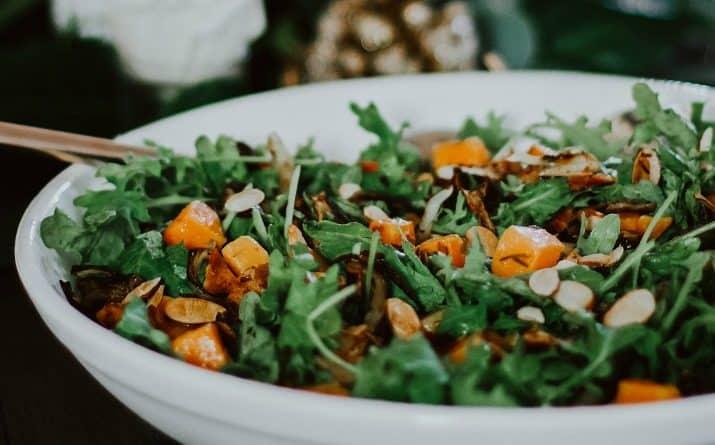 butternut squash baby kale salad recipe card