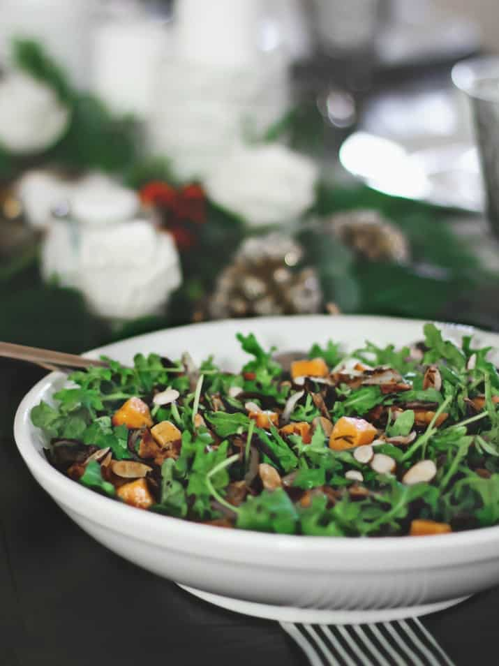 butternut squash salad for Christmas Dinner Party Tablescape & Menu Plan