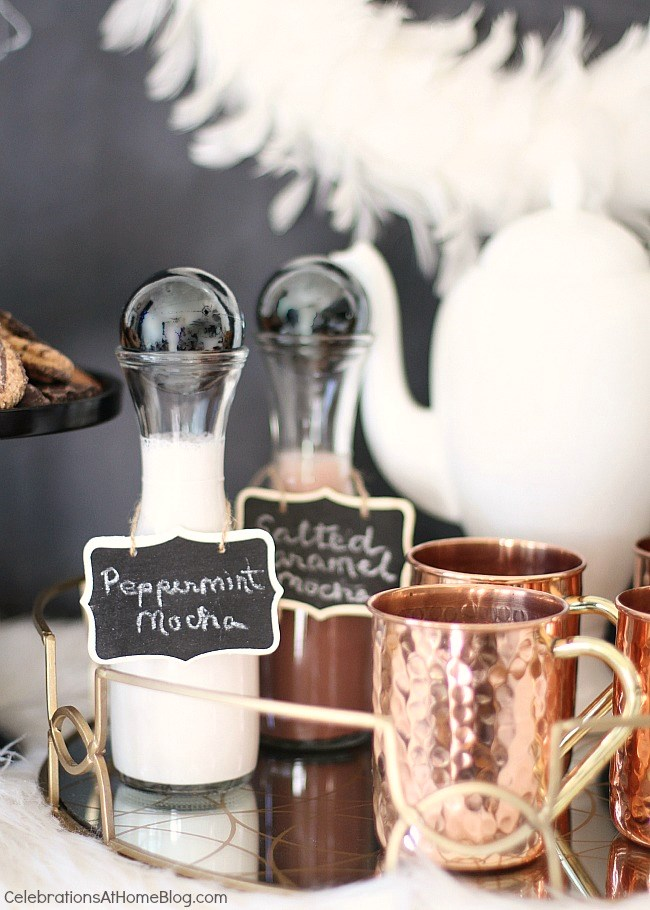 How to host an easy cocktail party. coffee bar