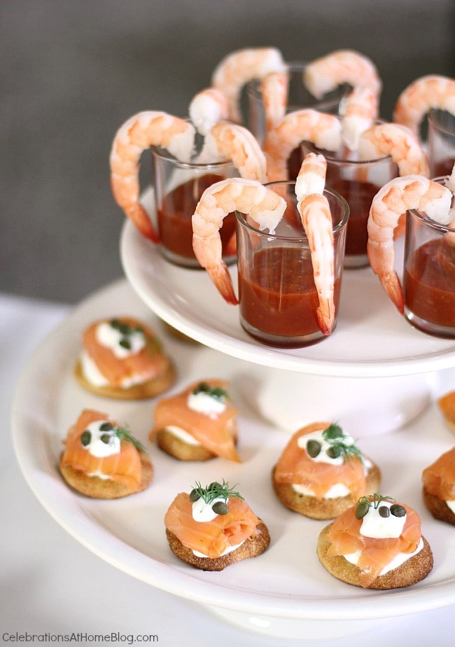 Christmas Cocktail Party Ideas Part - 21: How To Host An Easy Cocktail Party. Shrimp, And Smoked Salmon Canapes ...