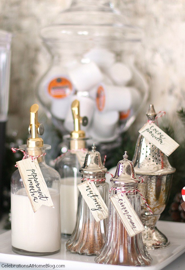 sugar shakers and creamer bottles