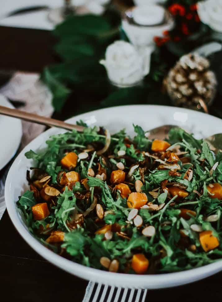 salad for a dinner party at home