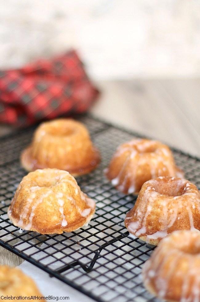 Christmas recipe - eggnog tea cakes recipe is a festive treat and easy to make for the holidays.