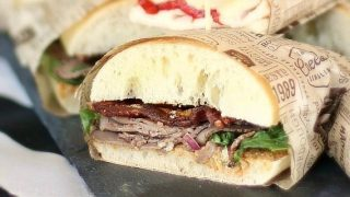 Roast Beef Party Sandwiches w/Chili-Lime Mayo