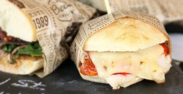 Turkey Melt Party Sandwiches