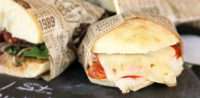 Turkey Melt Party Sandwiches