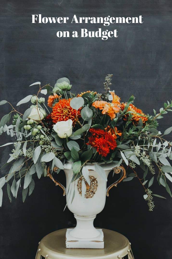 flower arrangement on a budget