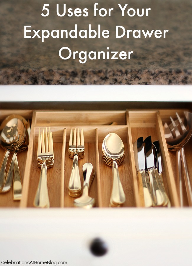 5 ways to use your drawer organizer.