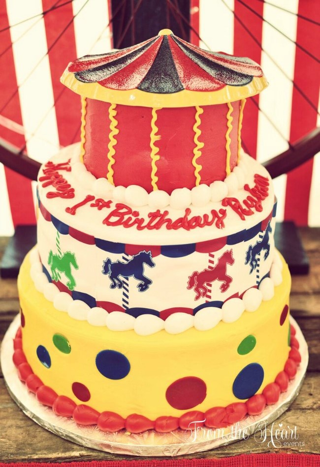 Vintage circus party (guest feature) - cake