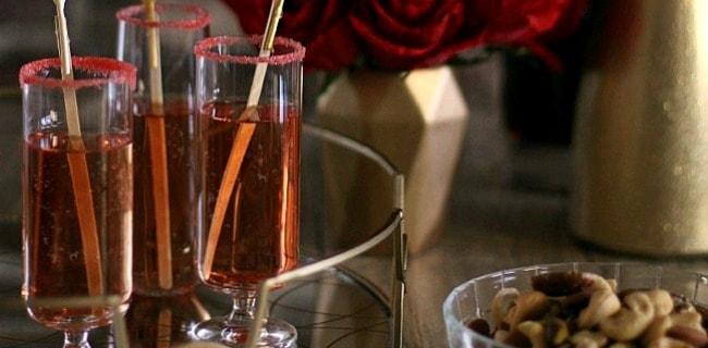 Pomegranate Sparkle Cocktail