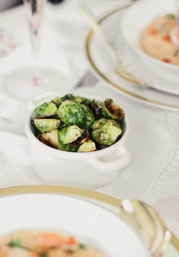 brussels sprouts in min crock