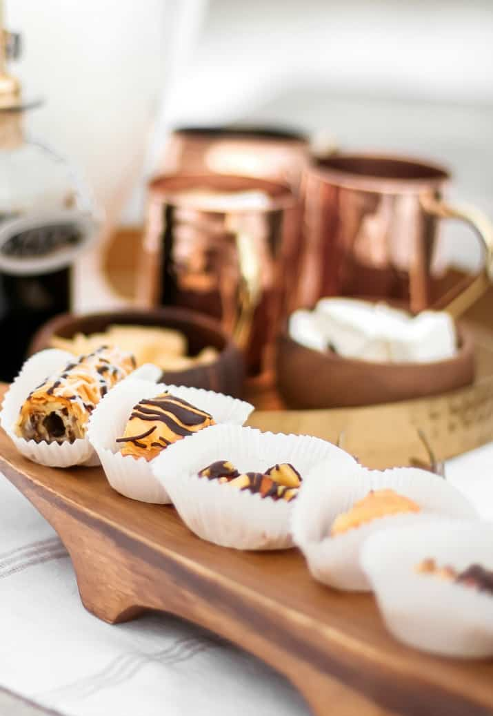 pastries in paper cups
