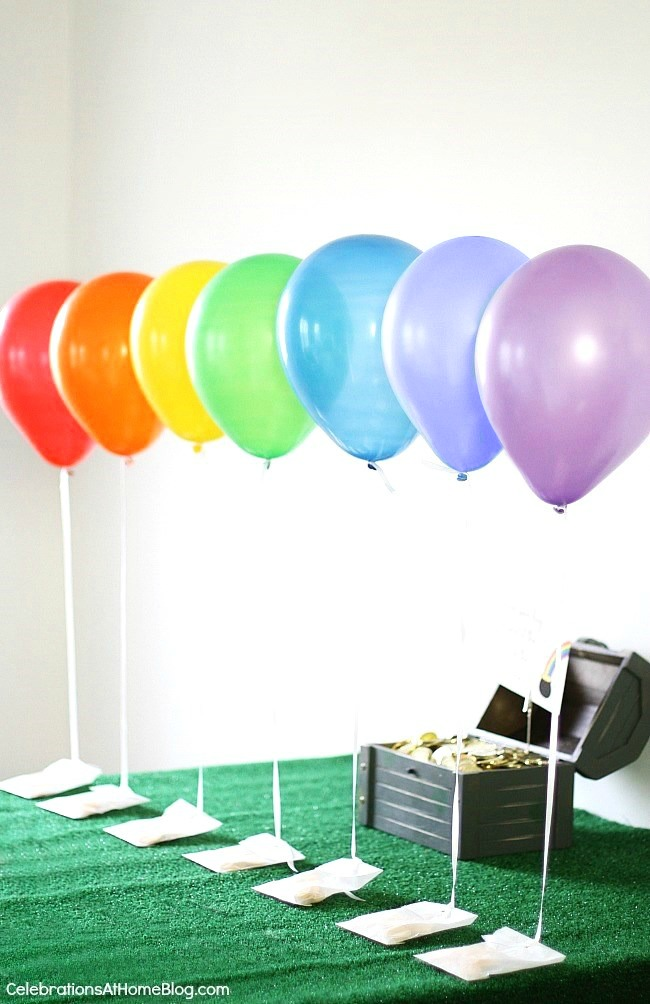 St Patricks day party favors - gold coins at the end of the rainbow.
