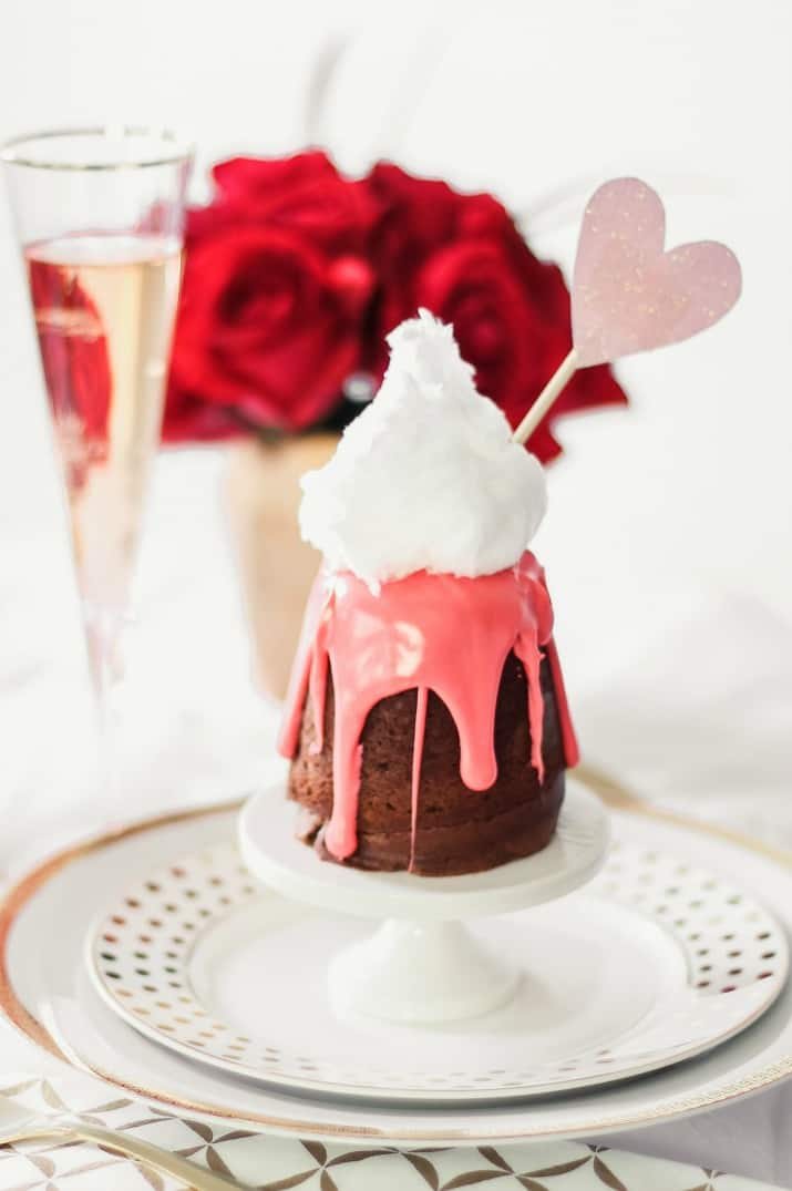 Valentine's day dessert for two