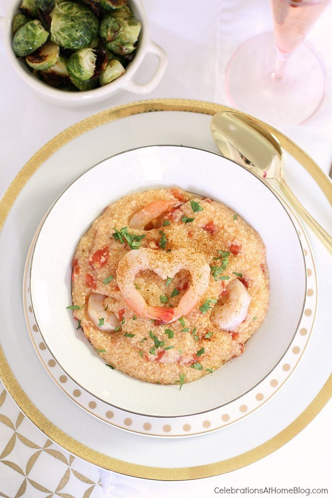 Valentines day dinner for two: Shrimp & Grits recipe