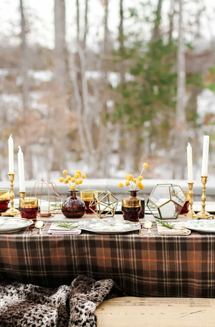 winter dinner table