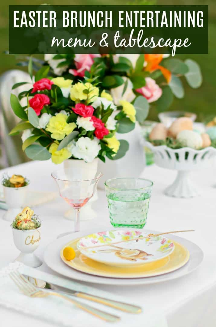 Easter brunch menu & tablescape ideas