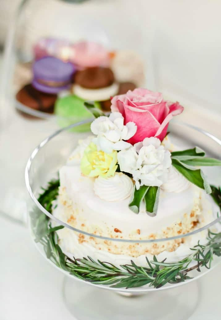 Easter cake topped with flowers