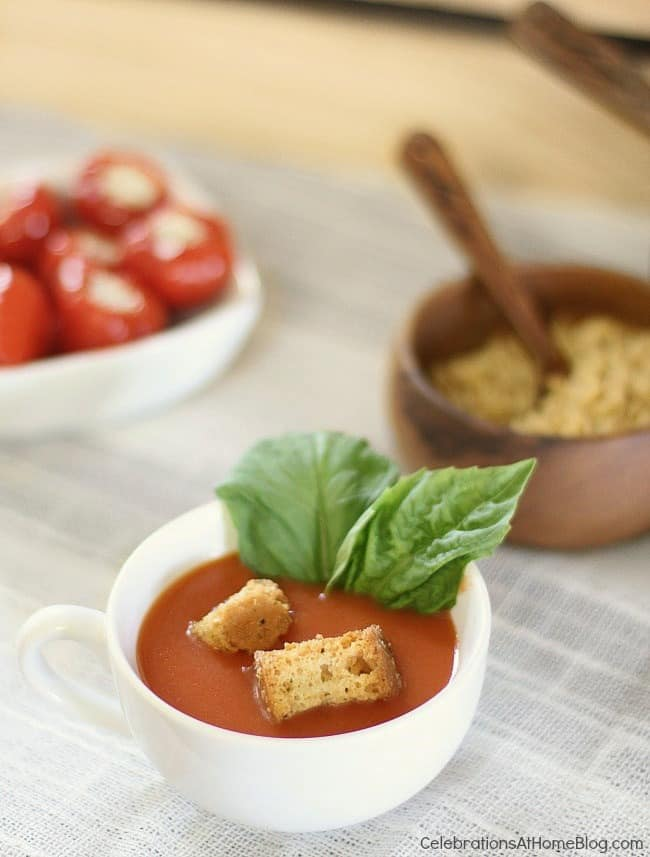 Set up a soup bar with grilled cheese tartines for a casual luncheon or a shower celebration. Get some great ideas and inspiration here.