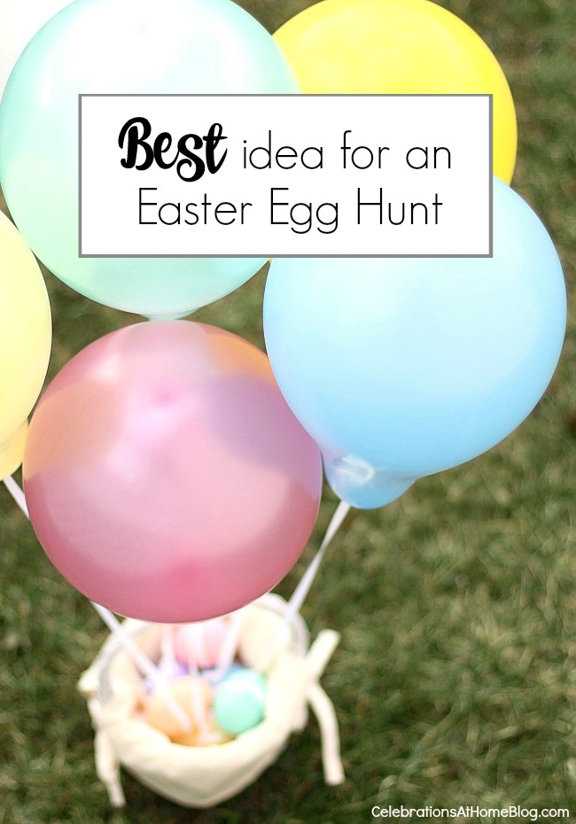 The BEST Easter egg hunt idea for people with toddlers. You don't want to miss this!