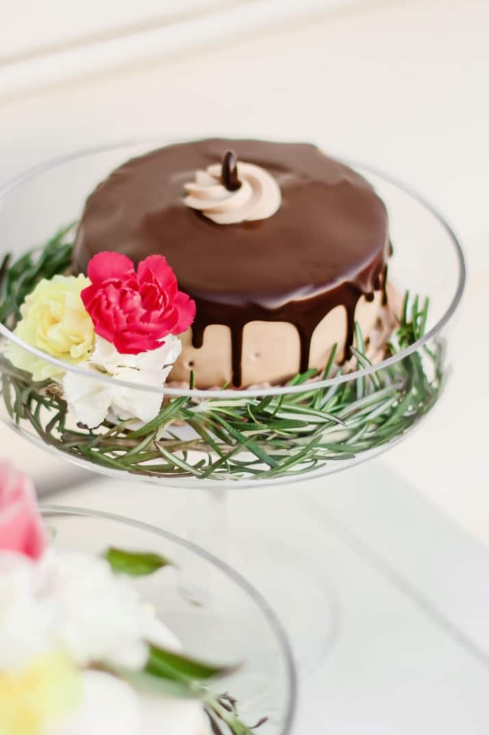 Easter cake decorated with flowers