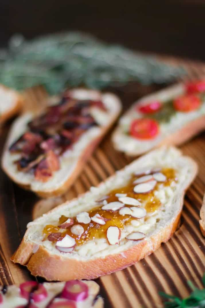 fig jam and almonds grilled cheese tartines
