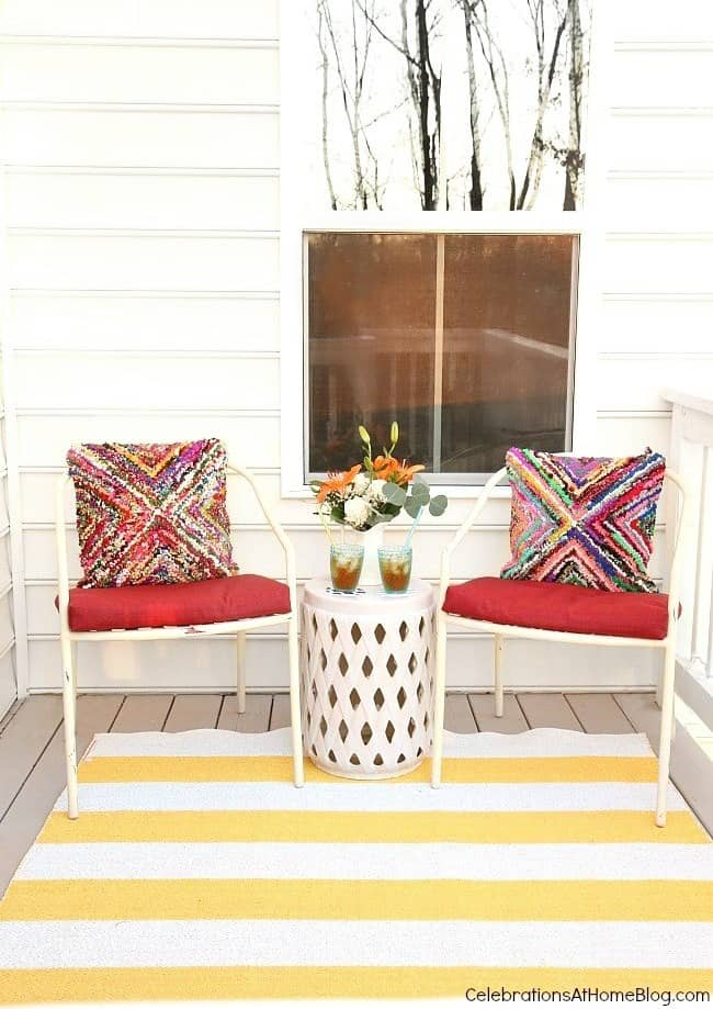 Small deck decorating: updating with a few key pieces completely changes the look!