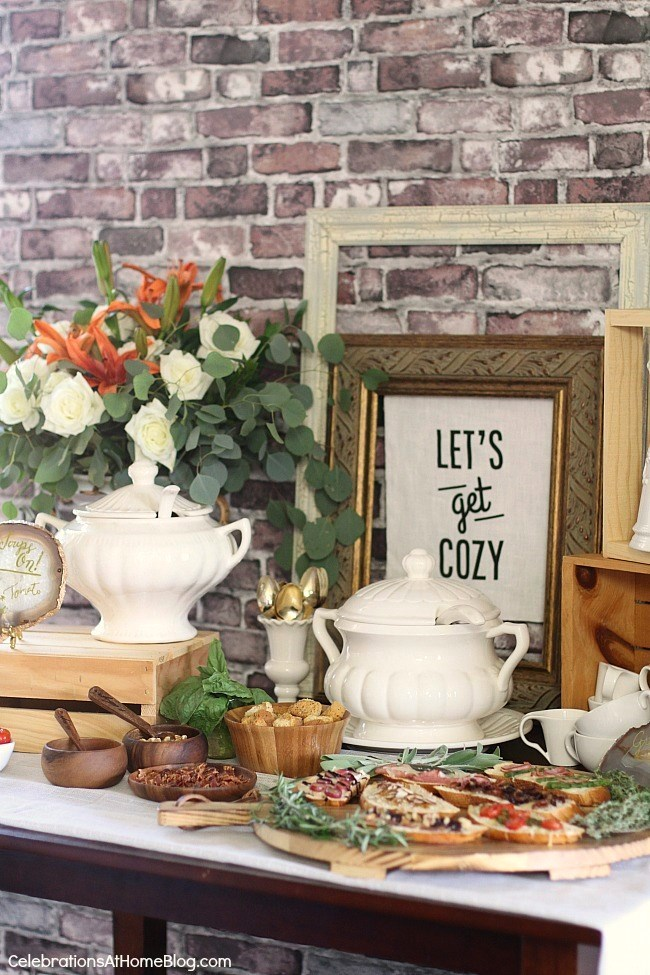 soup bar ideas tips recipes celebrations at home