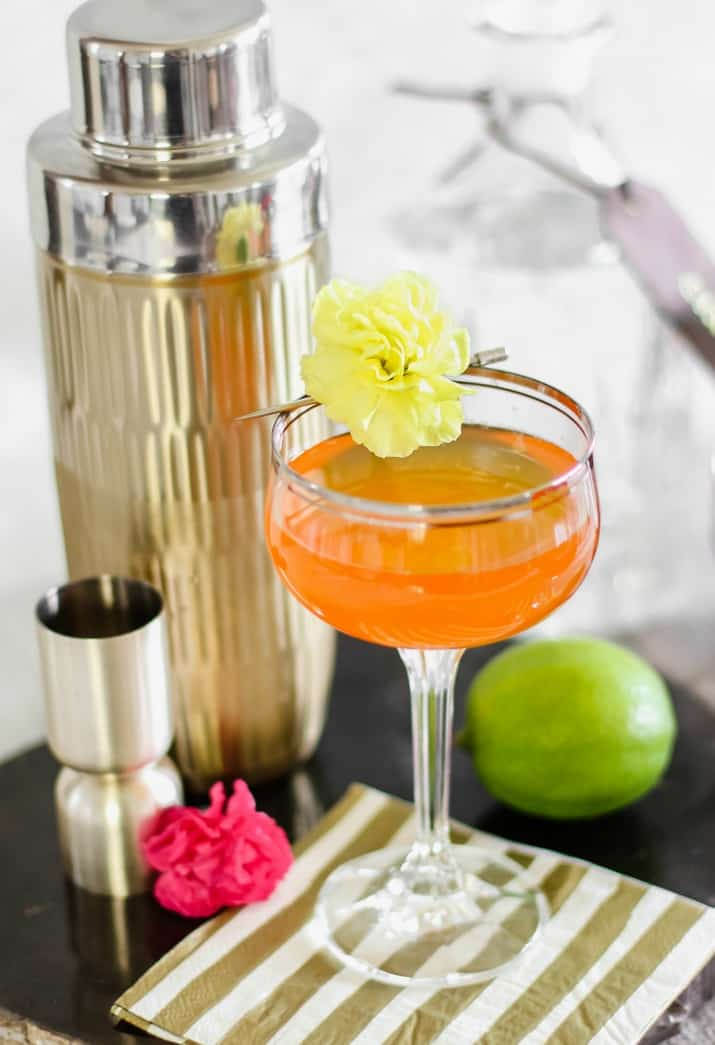 sweet and tart gin cocktail