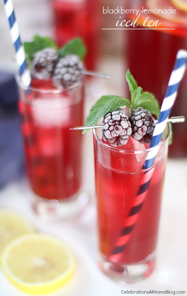 Serve this refreshing blackberry-lemonade iced tea for warm weather entertaining that will please the whole family.
