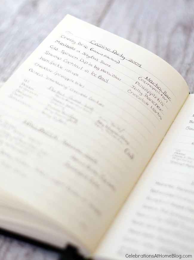 tips for keeping a party journal