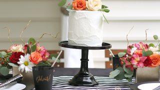 Black & White Celebration Tablescape