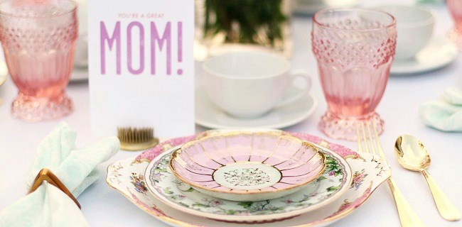 Setting a Mother's Day Brunch Table