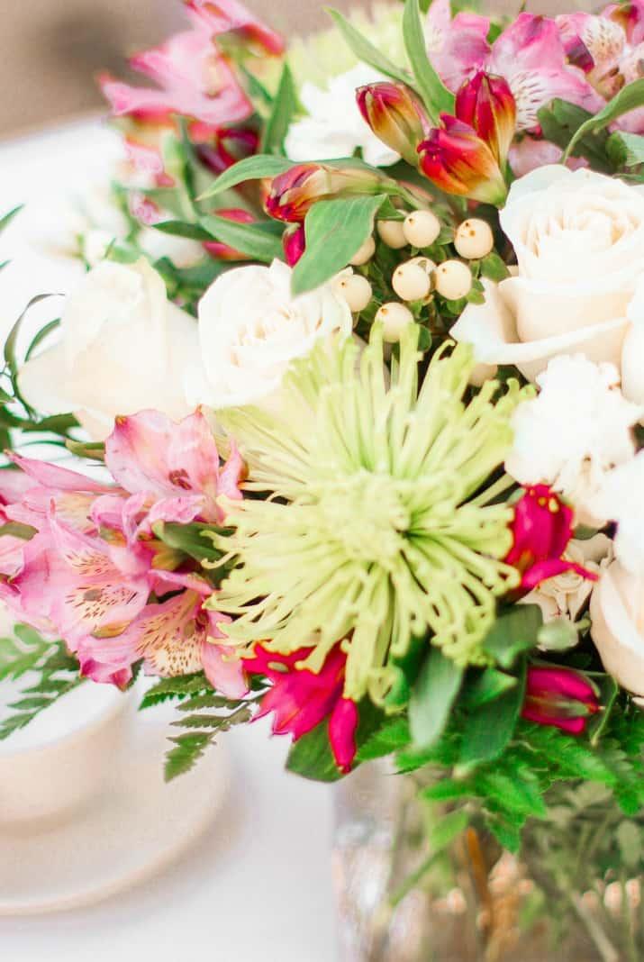 spring flowers centerpiece